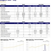Niagara Falls NY Real Estate Sales Statistics for March 2020