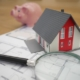 bank, tiny house, and magnifying glass signifying buying vs. renting in 2021
